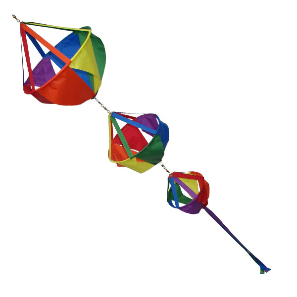 Triple basket windsock rainbow