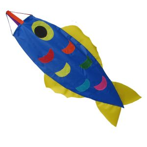 Blue fish windsock